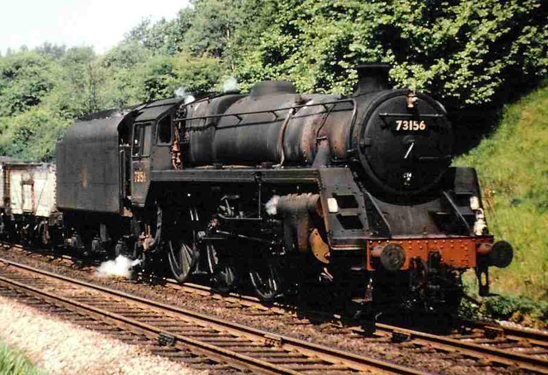 British Railways Standard 5 73156 appearing as 73084 Tintagel