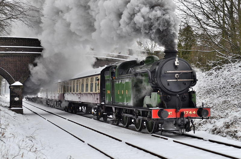 1744 in the snow on 19th January, 2013 - D Jones