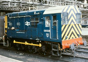 D3690 then running as 08528 at Liverpool Street during the 1980s