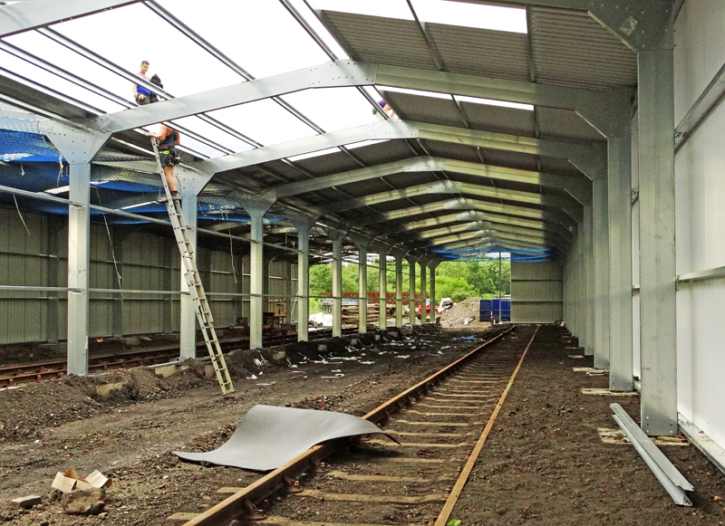 Further Carriage Shed Progress Great Central Railway