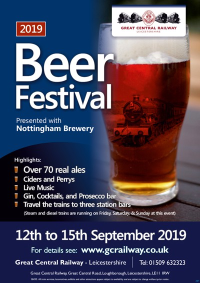 Beer Festival – Thu 12th to Sun 15th September 2019   Great