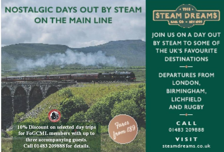 Steam Dreams Discount for Friends Members | Great Central Railway