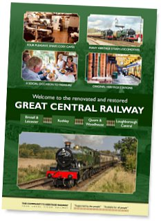Welcome to the restored and renovated Great Central Railway - Brochure download