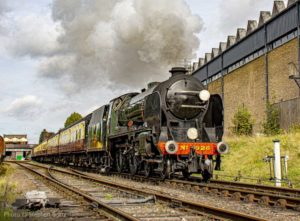 """Steaming away from the town, the countryside beckons..."" - Photo © Stephen Bottrill"