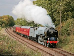 """A new steam locomotive story is written."" New-build Peppercorn A1 class 60163 ""Tornado"" pictured during trials at the GCR in 2008. - Photo © Martyn Tattam"