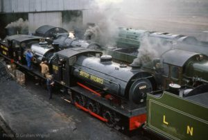 """A busy morning at the loco shed in days gone by."" - Photo © Graham Wignall."