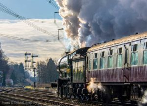 """B12 8572 steams into the sunset at Swithland Sidings."" - Photo © Stephen Bottrill."