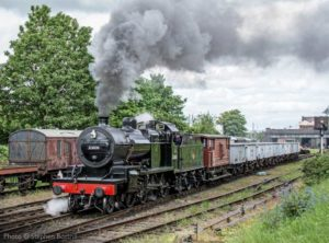 """Echoes of the Somerset & Dorset Joint Railway with a 7F working a heavy coal train."" Photo © Stephen Bottrill."