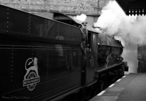 """Passengers board, parcels are loaded, and the immense power of an express steam locomotive is at the driver's command."" - Photo © Paul Callow."