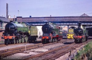 """Generations meet at Loughborough."" Three fine locomotives designed for the London & North Eastern Railway or its constituent companies. Photo © Graham Wignall."