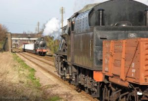 """Afternoon freight by the locos of the LMS."" - Photo © John Smith."