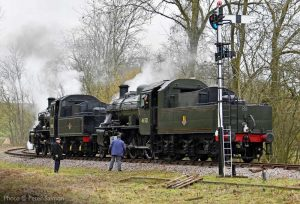"""""""Class 2MTs stand ready for action ahead of their next duty."""" - Photo © Peter Salmon."""