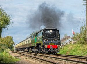 """""""The day begins with a passenger train in the hands of a Bulleid Light Pacific."""" - Photo © Stephen Bottrill."""