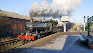 """""""6990 Witherslack Hall sets the modern day scene at the preserved Loughborough Central."""" - Photo © Great Central Railway / AJM."""
