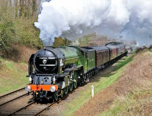 """""""An Eastern Region express makes determined progress with power and grace."""" - Photo © Stephen Bottrill."""