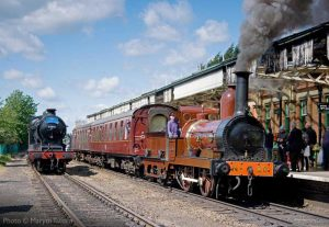 """""""Locomotive history on show as Furness Railway No.20 of 1863 stands beside O4 63601 of 1912 (which was originally built as Great Central Railway 8K No.102)."""" 63601 appears courtesy of the National Railway Museum, and Furness No.20 appears courtesy of the Furness Railway Trust. - Photo © Martyn Tattam."""