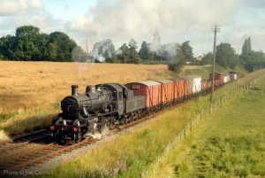 """""""The grimy appearance of a work-stained 2MT recreates typical scenes from the latter days of steam on British Railways."""" - Photo © Joe Connell."""