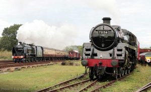 """""""A busy scene at Swithland Sidings - Recreating the experience of a bygone era on British main lines."""" - Photo © Roy Harris."""