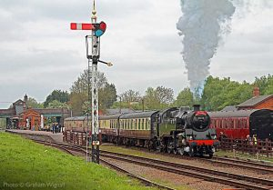 """""""A product of the 1950s, the British Railways Standard Class 4 tank was once a common sight on commuter and suburban trains."""" - Photo © Graham Wignall."""