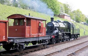 """""""Delivering the goods. Ivatt Class 2MT 46521 working tender-first with a short freight train."""" - Photo © Roy Harris."""