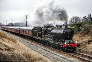 """""""A fine locomotive from the original Great Central Railway Company appears in British Railways livery in familiar territory on the preserved GCR."""" GCR Improved Director Class 506 """"Butler Henderson"""" (appearing here carrying later British Railways number 62660) is owned by the National Railway Museum. - Photo © John Bagshaw."""