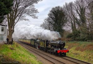 """""""Hall and Hall... A capable partnership put through its paces on a Western Region express."""" - Photo © Alan Weaver."""
