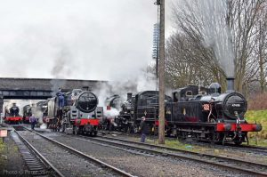 """A busy scene on shed as locomotives are prepared for a gala event on the Great Central."" We're really looking forward to staging gala events again in the future when the situation improves. - Photo © Peter Salmon."
