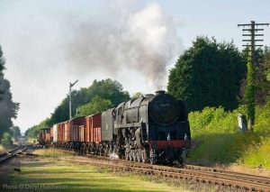 """The afternoon sunshine finds a 9F on a short mixed good train."" - Photo © Daryl Hutchinson."