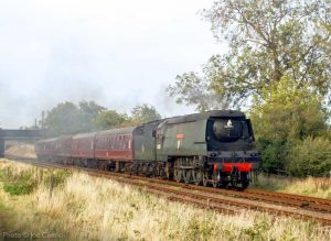 """""""The latter days of British Railways steam recreated on an overcast afternoon in Leicestershire."""" - Photo © Joe Connell."""