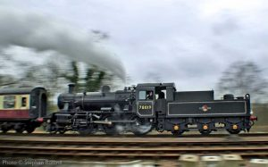 """Steam in motion... 78019 passes Swithland Sidings with a northbound passenger train."" - Photo © Stephen Bottrill."
