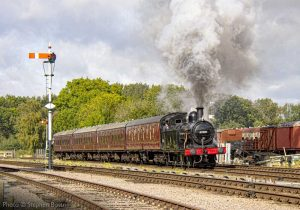 """Popular 3F 47406 passes Swithland Sidings with a short passenger train."" - Photo © Stephen Bottrill."