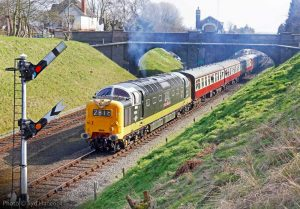 """""""Built in the early 1960s for East Coast Main Line expresses, a number of Deltics have been preserved and have seen service on the main line and on heritage railways."""" - Photo © Syd Hancock."""