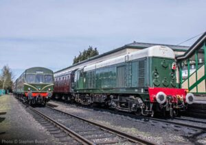 """""""Fine examples of the first generation of diesel power designed to replace steam on Britain's railways, now themselves also preserved on heritage lines."""" - Photo © Stephen Bottrill."""
