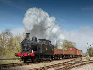 """""""A short freight train makes its way forward, on a bright day in Leicestershire."""" - Photo © John Smith."""