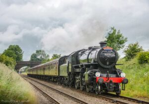 """""""Visiting Ivatt Class 4 43106 heads towards Quorn & Woodhouse with a passenger train at a previous year's Model Event."""" Although this year's Model Event scheduled for this weekend has been cancelled, we hope to stage this unique model railway exhibition again in the future. - Photo © Joe Connell."""