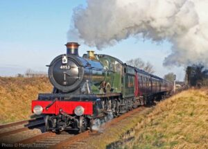 """""""A Hall in fine form... 4953 'Pitchford Hall' approaches Quorn & Woodhouse with a passenger train, prior to the loco's most recent overhaul."""" - Photo © Martyn Tattam."""