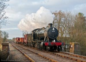 """A short goods train steams through the picturesque surroundings around Swithland, with GWR 2-8-0 3850 in charge."" - Photo © Stephen Bottrill."