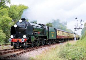 """Southern express... Schools Class 926 'Repton' steams past Swithland Sidings with a southbound passenger train."" - Photo © Roy Harris."