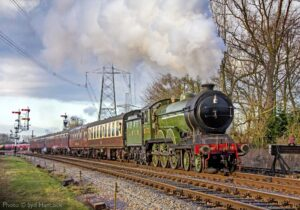 """A popular visitor to the Great Central, LNER B12 8572 works a passenger train past Swithland Sidings towards Rothley."" - Photo © Syd Hancock."