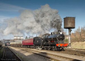 """Visiting Q Class 30541 leads the way into the afternoon, with a passenger train from Loughborough Central."" - Photo © John Smith."