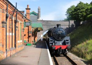 """Rothley arrival... British Railways Standard Class 5 73156 enters Rothley Station with a crew refresher train."" - Photo © Roy Harris."