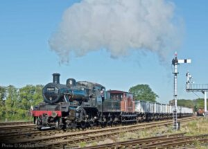 """A morning goods train to begin a bright day... British Railways Standard Class 2 78019 works a train of coal empties past Swithland Sidings on the Great Central."" - Photo © Stephen Bottrill."