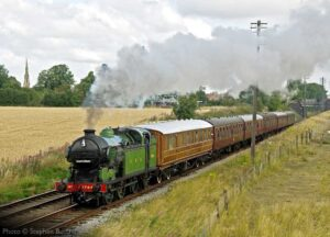 """Before modern development altered the scene south of Loughborough, GNR N2 1744 steams towards Quorn & Woodhouse with a passenger train."" - Photo © Stephen Bottrill."