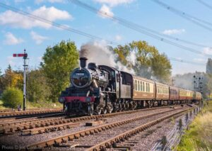 """British Railways Standard Class 2 78018 heads north through Swithland Sidings."" - Photo © Joe Connell."