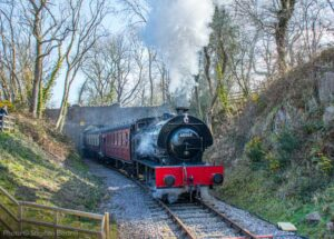 """Branch line excursion... 68067 arrives at Nunckley Hill on the Mountsorrel Branch, with a train for Rothley."" - Photo © Stephen Bottrill."