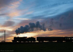 """D49 sunset... Our final image of July provides a silhouette of Gresley D49 number 246 'Morayshire' against the evening sky."" - Photo © John Smith."