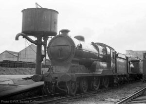 """Looking back to March 14th 1975, GCR Improved Director Class 506 'Butler Henderson' stands at Loughborough Central on the day of the loco's arrival on the preserved Great Central"". 506 is owned by the National Railway Museum. - Photo © W.R. Squires Collection."