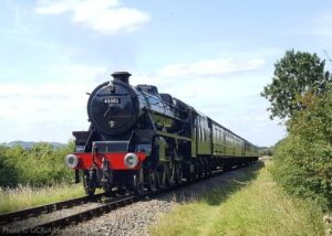 """""""Moments ago near Thurcaston... Stanier Class 5 45305 'Alderman A.E. Draper' ascends the gentle gradient towards Leicester North with the 1:50pm passenger service from Quorn & Woodhouse"""". - Photo © Great Central Railway/AJM."""