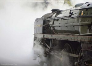 """""""Steaming into the future... 52 years after hauling the 'Fifteen Guinea Special' on the last day of steam on the British Railways network, 70013 'Oliver Cromwell' is currently being overhauled and will return to steam once again at the Great Central"""". 70013 """"Oliver Cromwell"""" appears courtesy of the National Railway Museum. Photo © Lewis Day."""