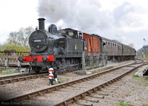 """""""A local passenger train for Rothley... Fowler 3F 47406 steams south through Swithland Sidings"""". - Photo © Peter Salmon."""